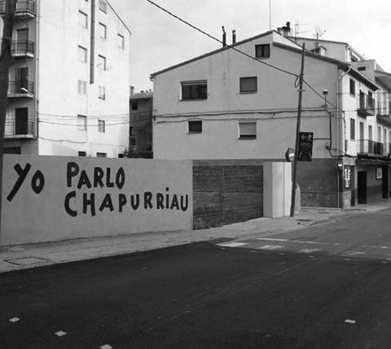 Pintada en Valderrobres reivindicando el uso del 'chapurriau'. - Foto:SERVICIO ESPECIAL