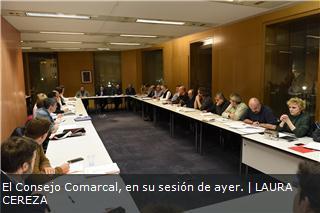 El Consejo Comarcal, en su sesión de ayer.