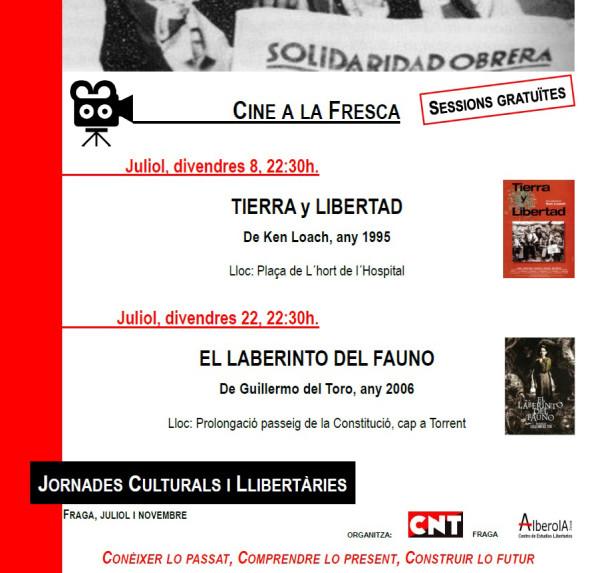 Jornades Culturals 2016 CNT Fraga