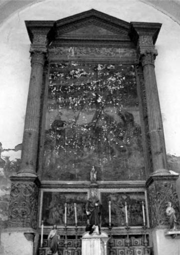 Retaule de la Santa Creu, donat a l'església de Castilsabás (Osca) Autir: Albert Velasco