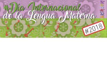 Cartel del Día de la Lengua Materna que se celebrará el 21 de febrero