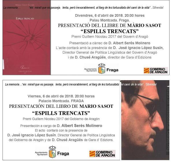 Invitación Espills trencats bilingüe