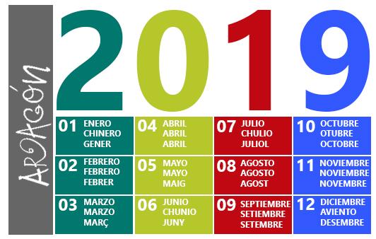 Calendari musical aragonès 2019