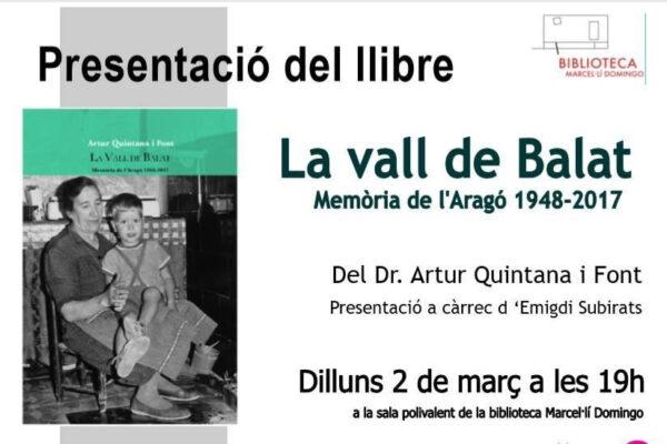 Presentació de 'La Vall de Balat' a Tortosa