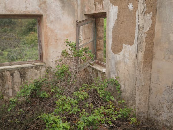 An abandoned train station in Lledó, a village in the province of Teruel.