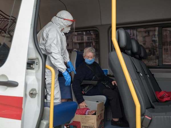 """""""I'll come back stronger,"""" saidEsther Pitart, 81, as she was evacuated from the nursing home in Valderrobres on April 8."""