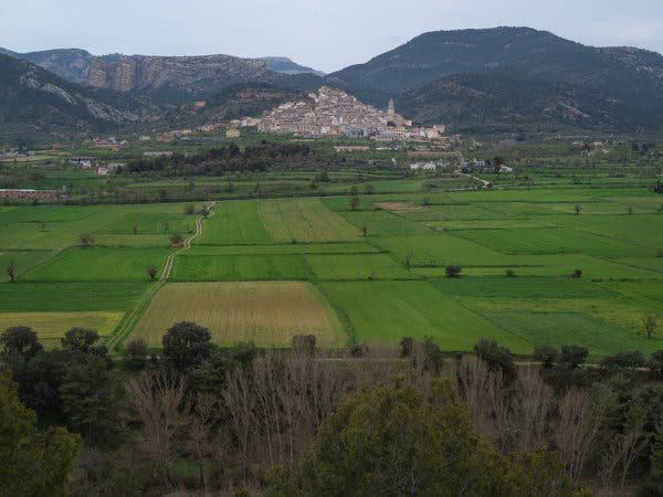 A view of Peñarroya de Tastavins, a town in Teruel. Rural authorities in Spain have argued that they are underequipped to fight the virus.